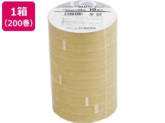 大人気 送料無料 Goono 送料無料(一部地域を除く) セロハンテープ 15mm×35m 200巻