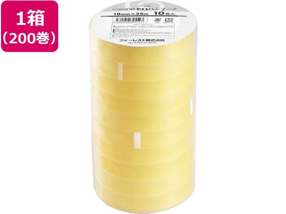 Goono/セロハンテープ 18mm×35m 200巻
