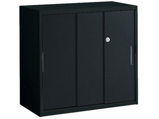 オカムラ/VILLAGE H750 VS収納 VS収納 オカムラ/VILLAGE 3枚引違い 上置き H750 ブラック, 石垣島のみやげ館:d546084d --- officewill.xsrv.jp