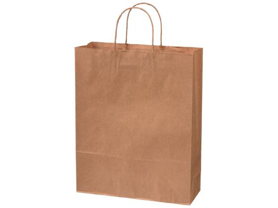 送料無料 スーパーセール期間中ポイント7倍 スーパーバッグ 紙手提袋 50枚 入手困難 販売期間 限定のお得なタイムセール 茶無地 丸紐L