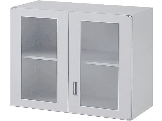 イトーキ/シンラインキャビネット 上置き ガラス両開き扉型 H692