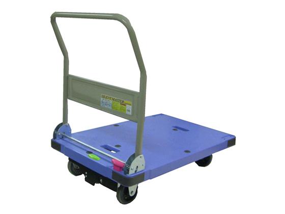 ナンシン/ストッパー付プラスチック静音台車 サイレントマスター 300kg荷重