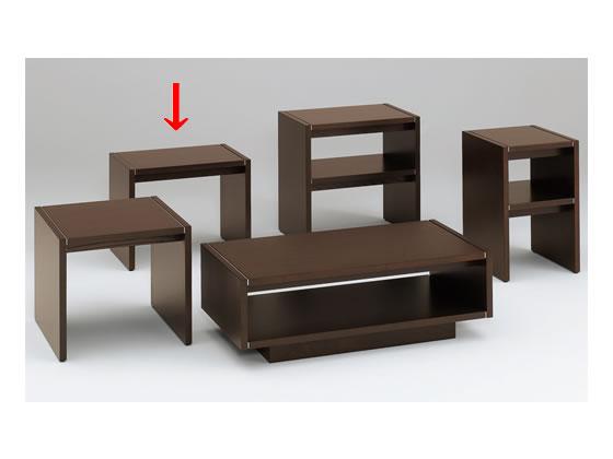 イトーキ/L20サイドテーブル オークダークブラウン/L20-0475-51【ココデカウ】