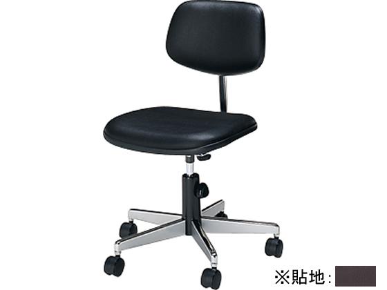 コクヨ/事務用回転イス20シリーズ レザー調ブラウン ゴムキャスター5個