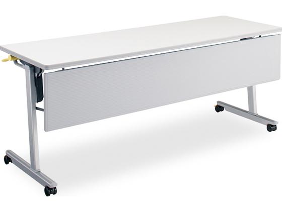 コクヨ/リスマ フラップテーブル パネル付 棚無し 1800*450 ホワイト