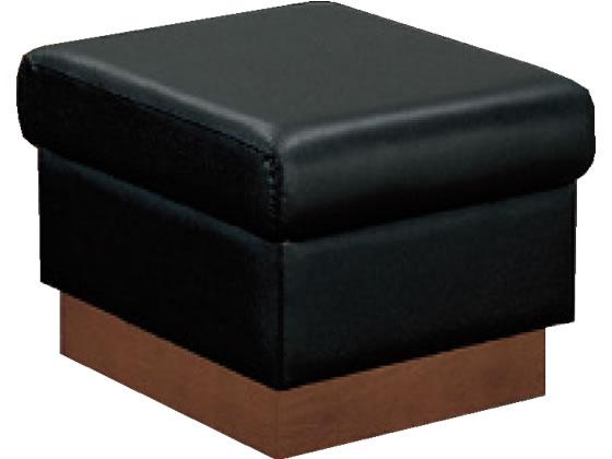 コクヨ/応接イス トリエント2 スツール 混合革 W500×D500 ブラック