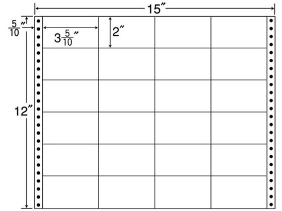 NANA/連続ラベルナナフォーム 15×12インチ 24面 500折/M15W