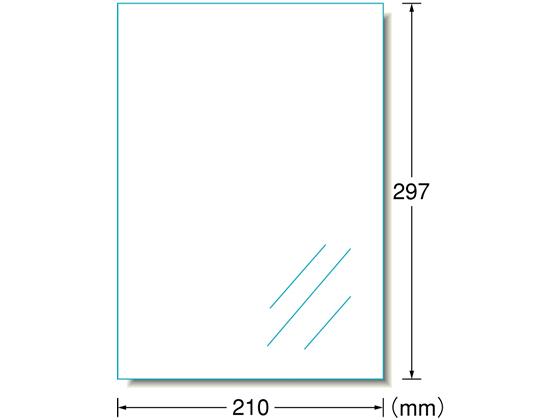 エーワン/PPCラベル A4 ノーカット 透明ツヤ消しフィルム 100枚/27003