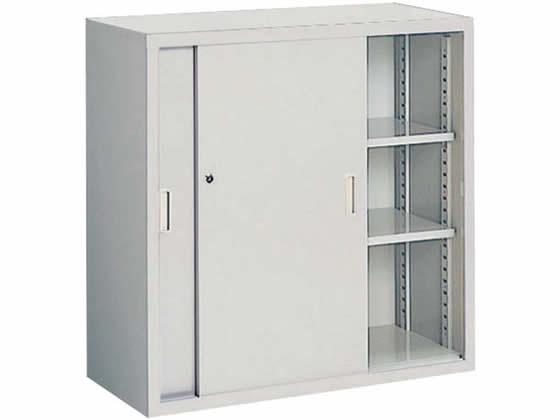 コクヨ/保管庫浅型 上置き 引違い戸 W880*D400*H880