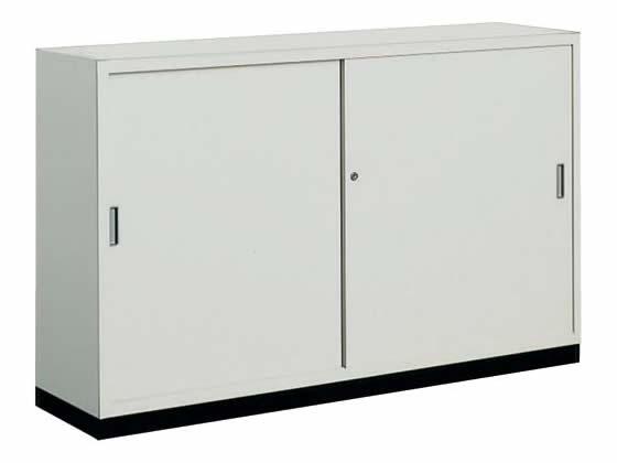 コクヨ/保管庫浅型 下置き 引違い戸 W1500*D400*H880