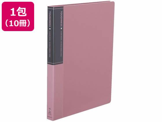 コクヨ/クリヤーブック タフネス 替紙式A4縦30穴 ピンク 10冊