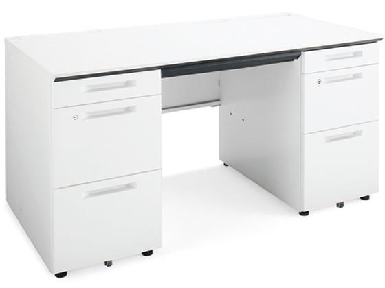 コクヨ/iS両袖デスク A4B4タイプ W1500×D700 ホワイト