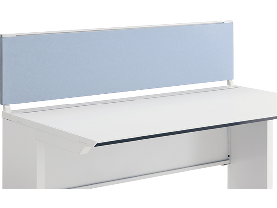 コクヨ/iSデスクトップパネル(フロントタイプ)W1400×H350 ホワイトブルー
