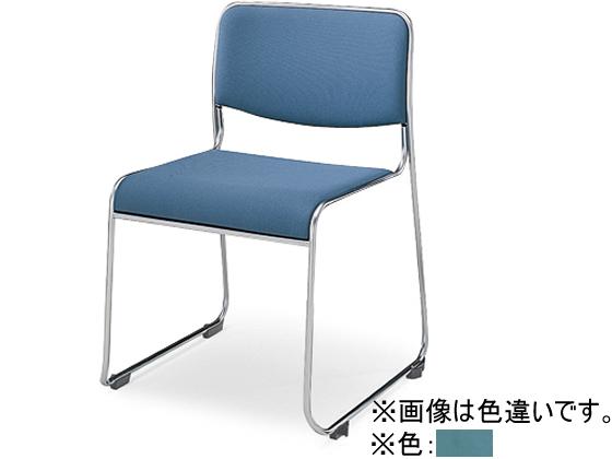 コクヨ/会議用スタッキングチェアーCK-805 ビニール ミディアムターコイズ