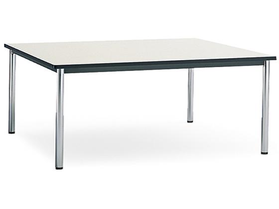コクヨ/会議テーブル ステンレス丸脚 棚無W1500×D750ナチュラルグレー