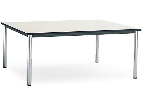 コクヨ/会議テーブル ステンレス丸脚 棚無W1800×D900ナチュラルグレー