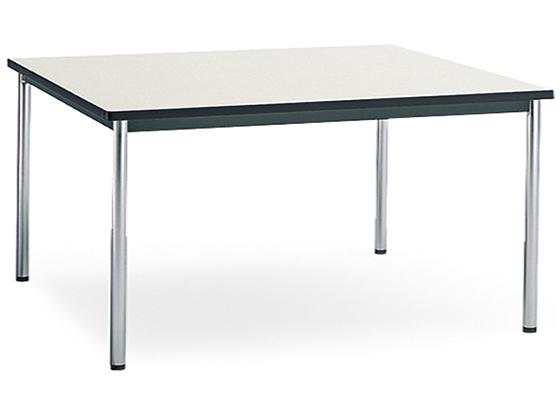 コクヨ/会議テーブル メッキ丸脚 棚無 W1200×D750 ナチュラルグレー