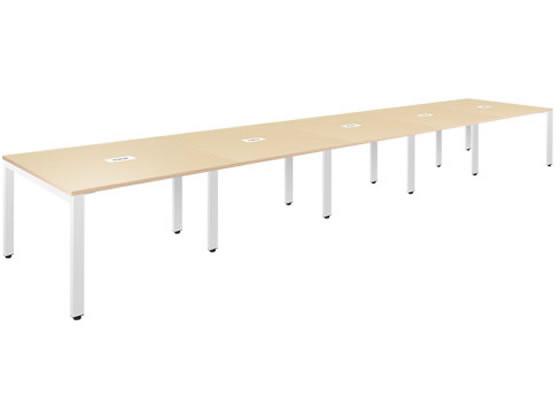 フリーアドレステーブルW6000×D1200ナチュラル/FAD-6012-NA