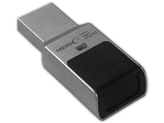 HIDISC/指紋認証USBフラッシュメモリー 32GB/HDUF131N32GFP3