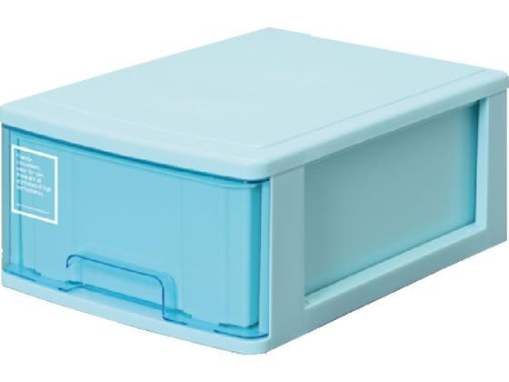 税込3000円以上で送料無料 国内正規品 サンコープラスチック A4レターケース深型1段 2020A W新作送料無料 シルキー410 ブルー