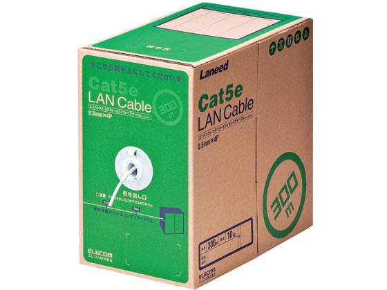 エレコム/LANケーブル Cat5e 単線300m ホワイト /LD-CT2/WH300/RS