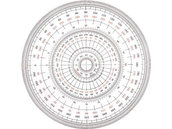 【税込3000円以上で送料無料】 ウチダ/全円分度器 12cm型/1-822-0000
