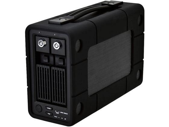 エレコム/外付けハードディスク 2Bay RAID 8TB/ELD-2B080UBK