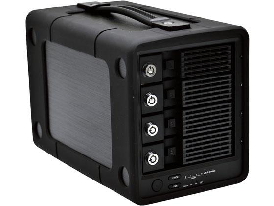 エレコム/外付けハードディスク 4Bay RAID 12TB/ELD-4B120UBK