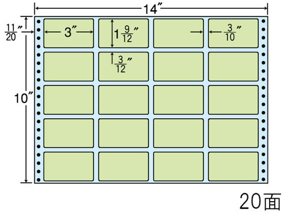 NANA/ナナフォーム カラーシリーズ 14×10インチ 20面/MT14JG