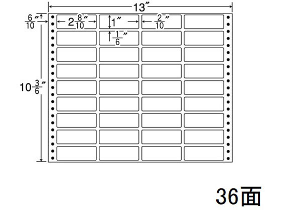 NANA/ナナフォーム 13×10(3・6)インチ 36面/MX13i