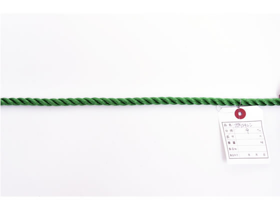 紺屋商事/PEロープ 9mm×200m 緑/60011096