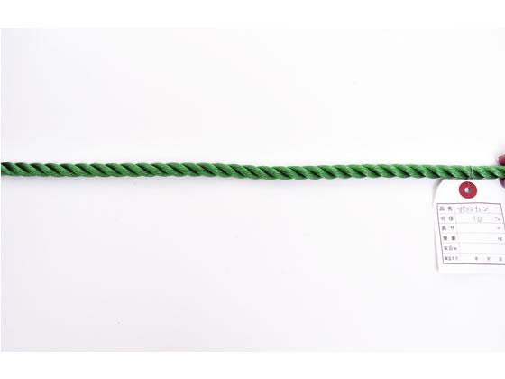 紺屋商事/PEロープ 10mm×200m 緑/60011097