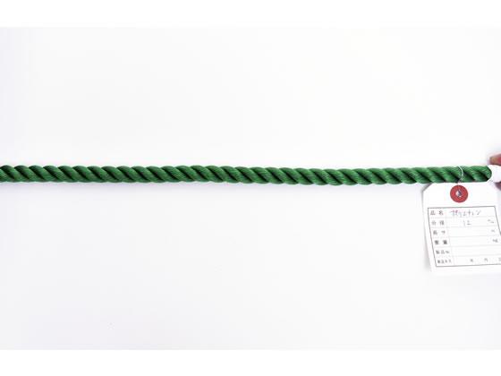 紺屋商事/PEロープ 12mm×200m 緑/60011098