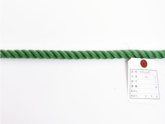 紺屋商事/カラーエステルロープ 緑12mm×200m巻/60011672