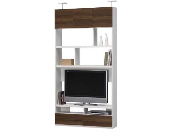 リビュアル 壁面テレビボード W1200 ダークブラウン/LVA-2412TVDK