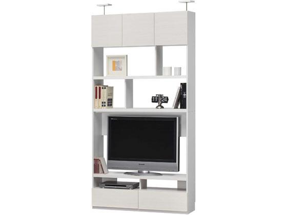リビュアル 壁面テレビボード W1200 ホワイト/LVA-2412TVWH