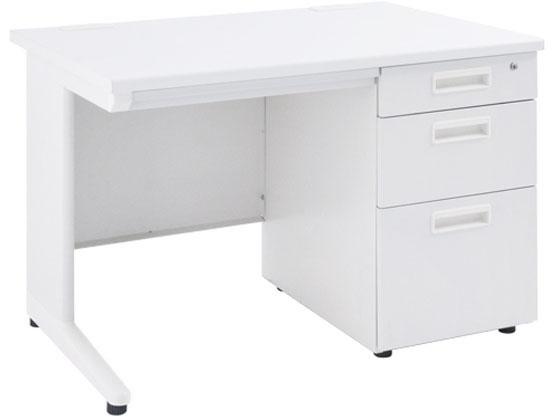 カグクロ/事務用片袖机 W1000 ホワイト/KDW-107S