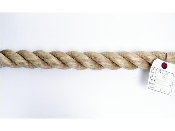 紺屋商事/麻ロープ 36mm 20m〈切売〉/60011176