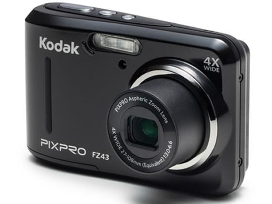 Kodak/コンパクトデジタルカメラ 単3電池対応/FZ43 BK