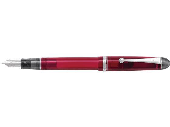 【お取り寄せ】パイロット/万年筆 カスタム74 透明ワインレッド 硬めの細字
