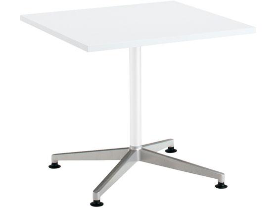 コクヨ/ジュート 単柱ポリッシュ脚 W750正方形(スクエア)白 アジャスター