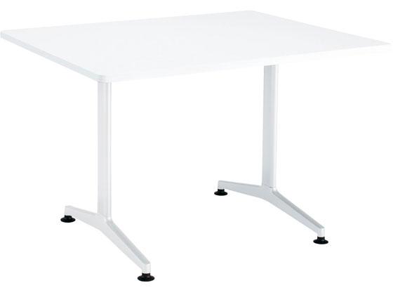 コクヨ/ジュート T字白脚 W1200×D900 角形ラウンド白 アジャスター