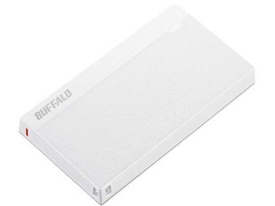 バッファロー/USB3.2ポータブルSSD 480GBホワイト/SSD-PSM480U3-UW
