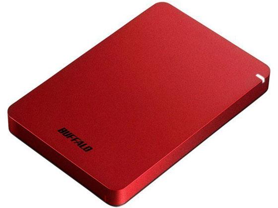バッファロー/USB3.1ポータブルHDD 1TB レッド/HD-PGF1.0U3-RDA