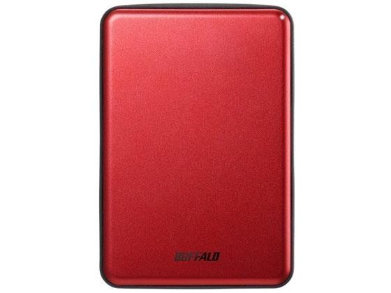 バッファロー/USB3.1アルミ&薄型HDD 1TB レッド/HD-PUS1.0U3-RDD