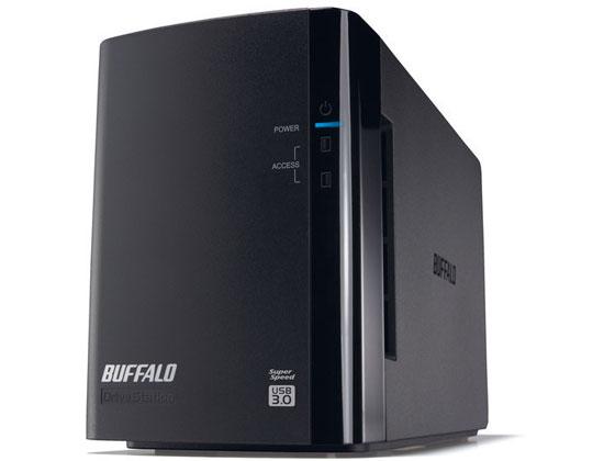 バッファロー/ドライブステーション HDD 2ドライブ 4TB/HD-WL4TU3/R1J