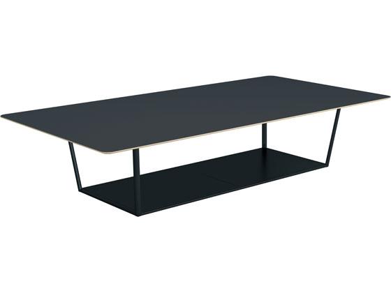 コクヨ/リージョン 角形 ミドルテーブル黒脚 W3600 チャコール