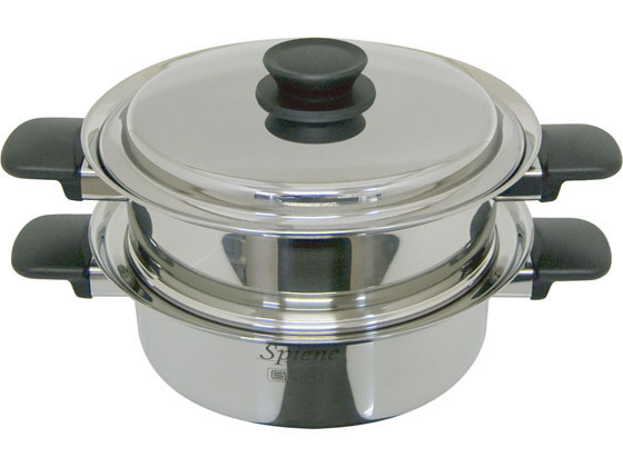 ウルシヤマ金属/スピーネ 2段蒸し器 23cm