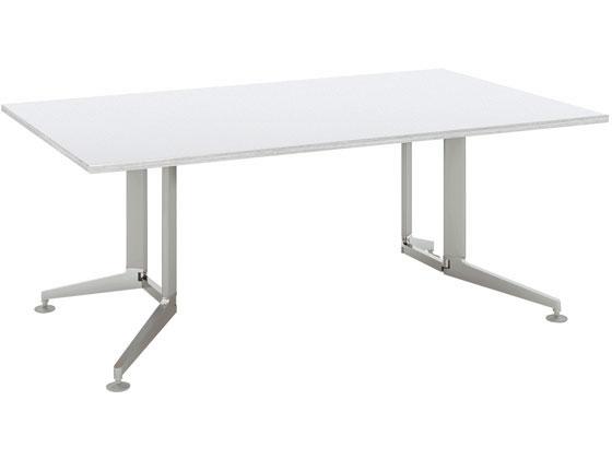 人気激安 コクヨ/テーブル 長方形メラミン 塗装脚 配線無W1800D900 WH, ABC INTERIOR 90184e78