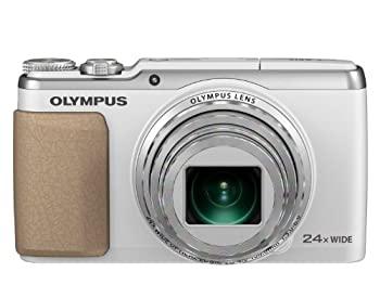 送料込 中古 OLYMPUS デジタルカメラ 2020春夏新作 STYLUS SH-60 ホワイト 光学24倍超解像48倍ズーム WHT 3軸フォト手ぶれ補正ハイブリッド5軸ムービー手ぶれ補正